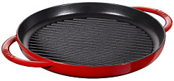 Staub Double handle grill, round, cherry