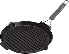 Staub Grill with silicone handle (200°C) round, black