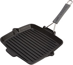 Staub Grill with silicone handle (200°C) square, black