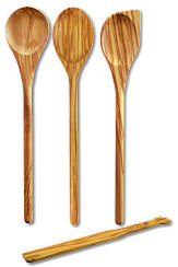 Set 4 pcs.: spoon round, oval, pointy and spatula