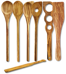 Set 7 pcs.: 4 spoons, spaghetti meter, large and small spatula