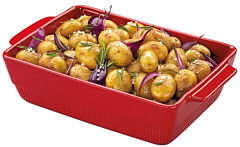 Chalet baking dish rectangular red