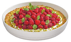 Chalet tart mould round white