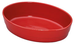 Chalet baking dish oval red