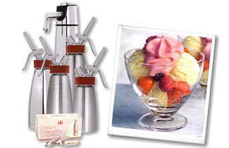 iSi cream whippers, sodasiphons, accessories, spare parts